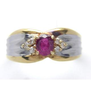 K18 プラチナ ルビー ダイヤモンド リング(リング(指輪))