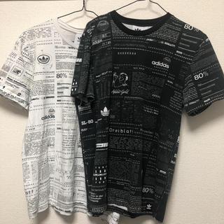 アディダス(adidas)のアディダス ティーシャツ白黒セット(Tシャツ/カットソー(半袖/袖なし))