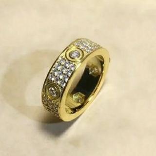 カルティエ(Cartier)のキラキラ aaaaa+ 5a 最高品質 ジルコルニア デザイン リング(リング(指輪))