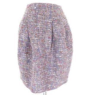 アンテプリマ(ANTEPRIMA)のMISSJ ミスジェイ ツイード スカート 36 パープル(ひざ丈スカート)