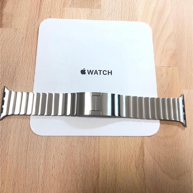 Apple Watch(アップルウォッチ)の[美品] 純正 Apple Watch リンクブレスレット シルバー 38mm メンズの時計(金属ベルト)の商品写真