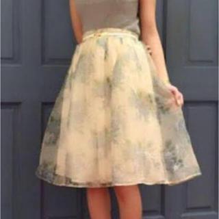ダズリン(dazzlin)のダズリン 花柄オーガンジースカート(ひざ丈スカート)