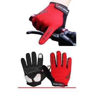赤 自転車 3D 立体 スマホ対応 手袋  グローブ S レディース ジュニア