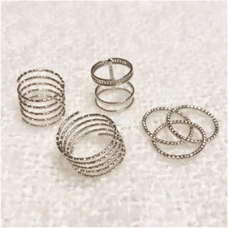 フォーエバートゥエンティーワン(FOREVER 21)のforever21 指輪 リング シルバー アクセサリー セット(リング(指輪))