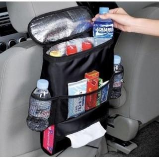 新品 便利 保冷保温シートバックポケット ブラック ドリンクホルダー 収納(車内アクセサリ)