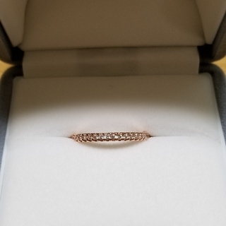 【新品同様】指輪 K18 ダイヤ ピンクゴールド 11号(リング(指輪))