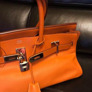 エルメス(Hermes)のエルメス ショルダー バーキン オレンジ 美品 本物保証(ハンドバッグ)