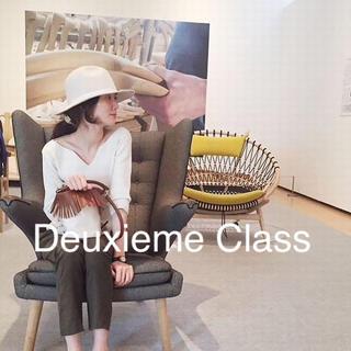 ドゥーズィエムクラス(DEUXIEME CLASSE)のドゥーズィエムクラス Vネック シルク ニット ともさかりえさん愛用 (ニット/セーター)