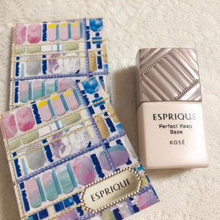 エスプリーク(ESPRIQUE)のエスプリーク シンクロフィットパクトUV &パーフェクトキープベース サンプル(化粧下地)