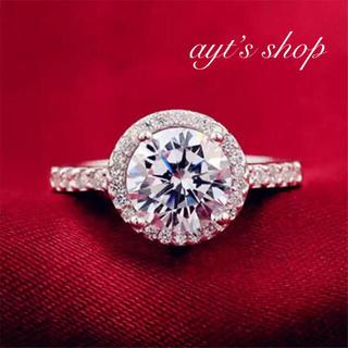 スワロフスキー(SWAROVSKI)のAAA級キュービックジルコニア❤︎婚約指輪 プリンセスエタニティリング💓(リング(指輪))