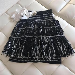 CHANEL - セール中 短期出品シャネル  フリンジスカート