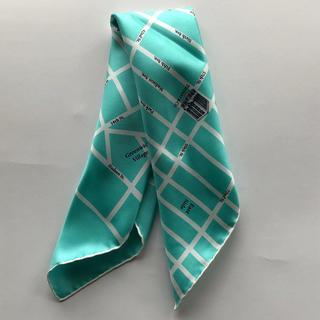 ティファニー(Tiffany & Co.)の貴重・日本未入荷・ティファニーNY本店限定新品マンハッタンマップスカーフスモール(バンダナ/スカーフ)