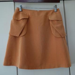 キュー(Q)の☆Q☆ 台形ミニスカート オレンジ(ミニスカート)