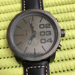 ディーゼル(DIESEL)の⑧ レア美品!電池新品!本革ベルト新品!人気のビックフェイス!メンズ 腕時計(腕時計(アナログ))
