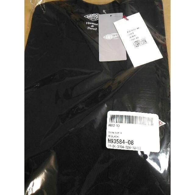 DANTON(ダントン)の新品タグ付き★BEAMSポケットTシャツダントンカットソー黒 メンズのトップス(Tシャツ/カットソー(半袖/袖なし))の商品写真