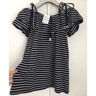 シマムラ(しまむら)の未使用☆Ank Ank オフショルTシャツ160(Tシャツ/カットソー)