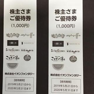 イオンファンタジー株主優待券