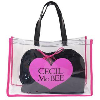 CECIL McBEE - CECIL Mc BEE ビニールバッグ 巾着付き♡