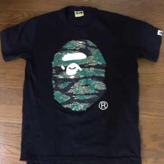 A BATHING APE - A BATHING APE 人気 猿顔 Tシャツ黒