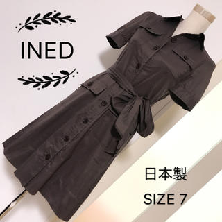 INED - INED シャツワンピース