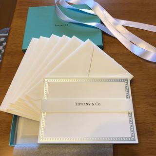 ティファニー(Tiffany & Co.)のティファニーシルバーバンドレターセット(カード/レター/ラッピング)