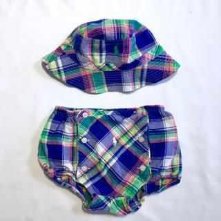 ラルフローレン(Ralph Lauren)のラルフローレン おむつカバー ブルマ ショートパンツ ハット 帽子 12M 80(パンツ)