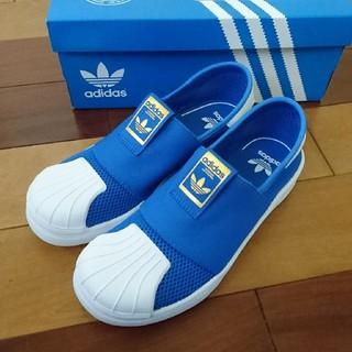 アディダス(adidas)の新品 adidas アディダス スーパースター スリッポン スニーカー 青 21(スニーカー)