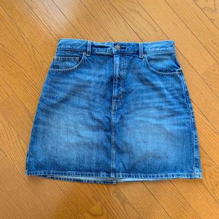 ジーユー(GU)のGU デニムスカート XXL BLUE 大きいサイズ(ひざ丈スカート)