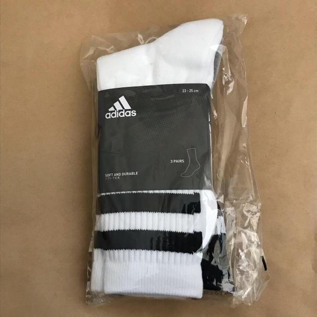 adidas(アディダス)のアディダス ラインソックス 3足 レディースのレッグウェア(ソックス)の商品写真
