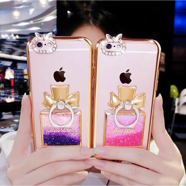 ミュウミュウ iphone8 ケース バンパー / iphoneケース リング付き 香水 ボトルの通販 by ゆり's shop|ラクマ