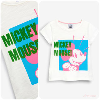 ネクスト(NEXT)のNEXT☆ホワイト・Mickey Mouse半袖Tシャツ(Tシャツ)