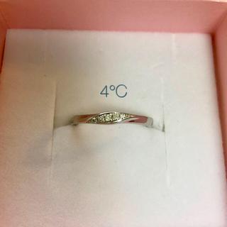 ヨンドシー(4℃)の【新品仕上げ済み】4℃ Pt950 ダイヤモンド リング 11号(リング(指輪))