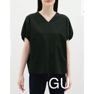 ジーユー(GU)のGUVネックボリュームスリーブブラウス(半袖)(シャツ/ブラウス(半袖/袖なし))