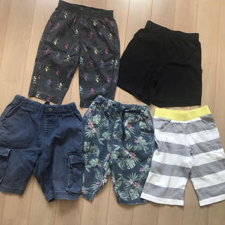 ジーユー(GU)の子供服 110 ハーフ パンツ 5枚セット まとめ 福袋(パンツ/スパッツ)