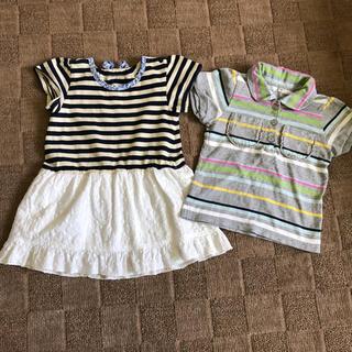 ベルメゾン(ベルメゾン)の90cm 半袖ワンピースとTシャツ2点セット (ワンピース)