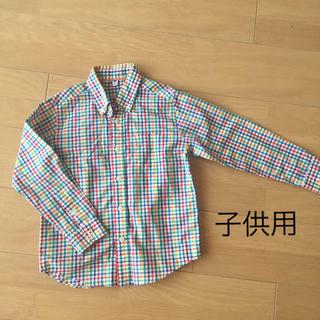 ユニクロ(UNIQLO)のユニクロ綿100 子供シャツ 120(ブラウス)