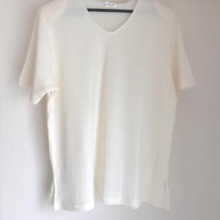 セーター 半袖 白(ニット/セーター)
