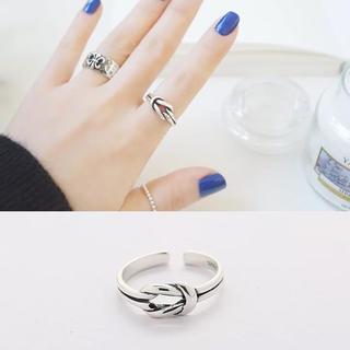 S925製 可愛いシルバーオープンリング 指輪 新作 綺麗 アレルギー シンプル(リング(指輪))