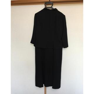 ソワール(SOIR)の東京ソワール ブラックフォーマル スーツ3点セット 13 超美品(礼服/喪服)