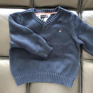 トミーヒルフィガー(TOMMY HILFIGER)のtommy ネイビーセーター18M 紺(ニット/セーター)