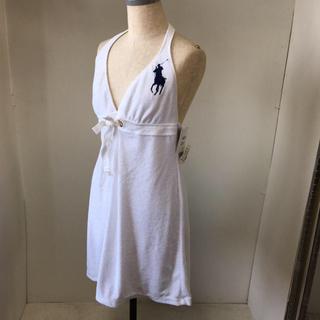 ラルフローレン(Ralph Lauren)のラルフローレン サマードレス ビッグポニー Lサイズ タグ付き未使用品(ミニワンピース)