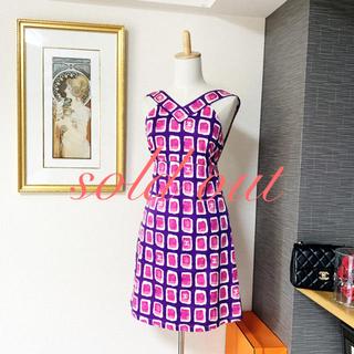 シャネル(CHANEL)の良品 シャネル  ココマーク ピンク パープル ワンピース  ドレス(ひざ丈ワンピース)