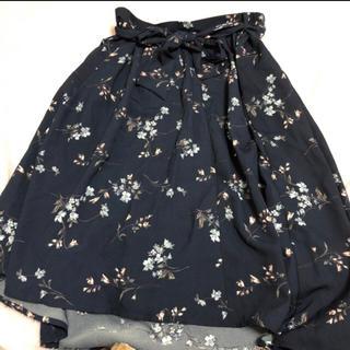 花柄 ロングスカート3L(ロングスカート)