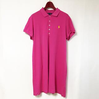 ラルフローレン(Ralph Lauren)のラルフローレン ポロワンピース フルジョ 古着女子 オーバーサイズ(ミニワンピース)