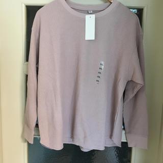 ユニクロ(UNIQLO)のUNIQLOワッフルクルーネックT(Tシャツ(長袖/七分))