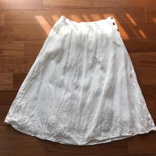 ピュアルセシン(pual ce cin)のピュアルセシン★麻のかわいいスカート(ひざ丈スカート)
