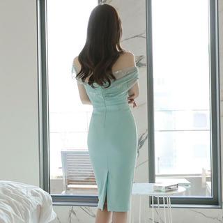 レース ドレス(ミディアムドレス)