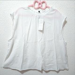 アベイル(Avail)の新品 Avail 3L リボン付き シースルー ノースリーブ♥️しまむら GRL(シャツ/ブラウス(半袖/袖なし))