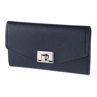 マイケルコース(Michael Kors)の新品マイケルコース 35H8ST6F3L レザーターンロック式長財布 紺(財布)