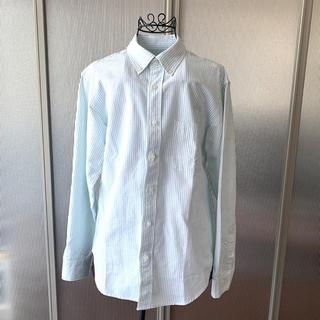 ジーユー(GU)のGU  ストライプオックスフォードシャツ 【新品・タグ無し】(シャツ)